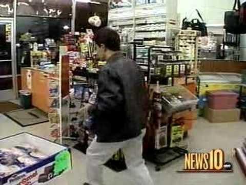 Robber meets Karate skilled shop owner