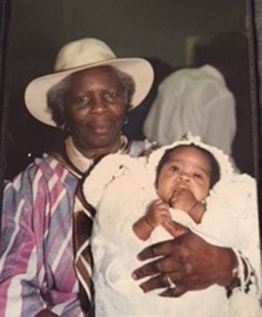 At the Christening of her grandchild Tahirah in 1986