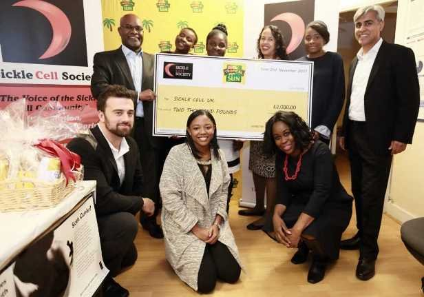 Tropical Sun donates to Sickle Cell Society