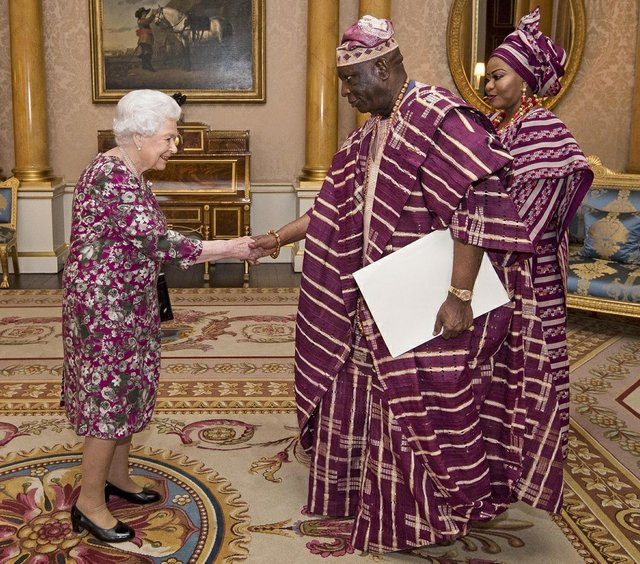 The Queen received and held an audience with the new Nigeria High Commissioner to UK, H.E. Mr George Adesola Oguntade at Buckingham Palace
