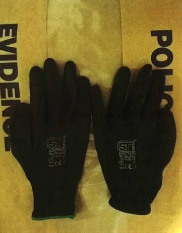 Gloves found in car