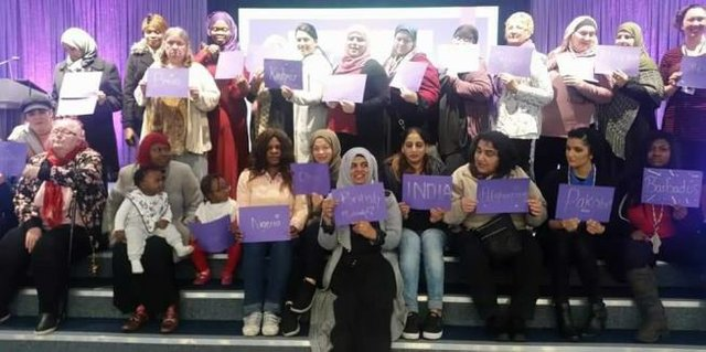 Celebrating International Women's Day in Oldham, Greater Manchester