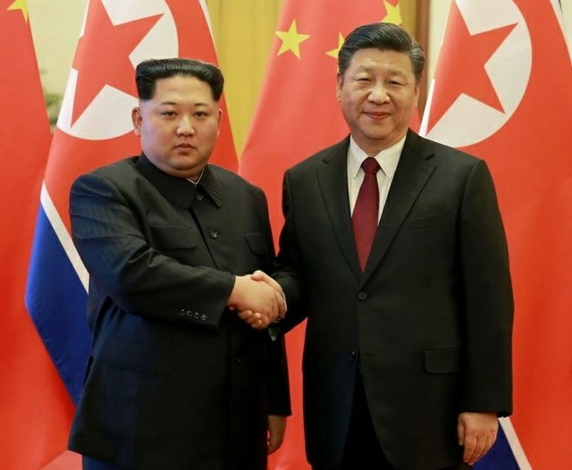 North Korean President Kim Jong –un and President Xi Jinping of China