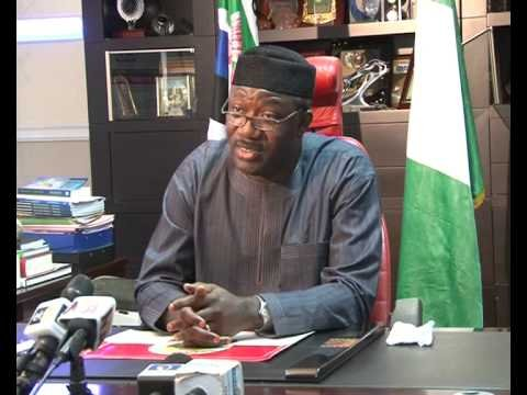 Dr Kayode Fayemi, Governor of Ekiti State during the State Broadcast