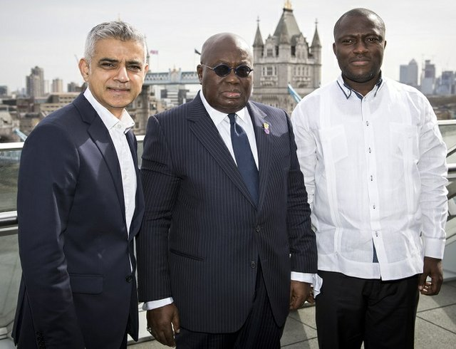 Khan, Akufo-Addo and Sowah