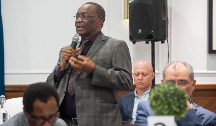 CEO of Olu-Olu Foods - Mr Olu Aiyegbusi at London Stakeholder event in London.