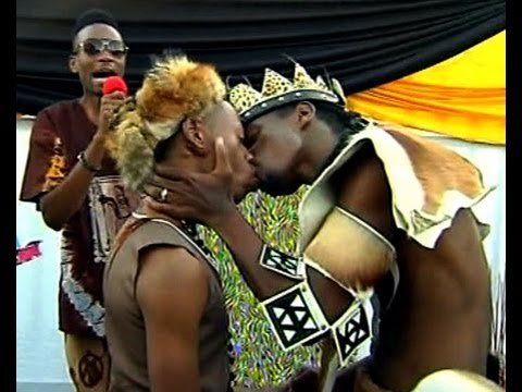 African traditional gay wedding holds
