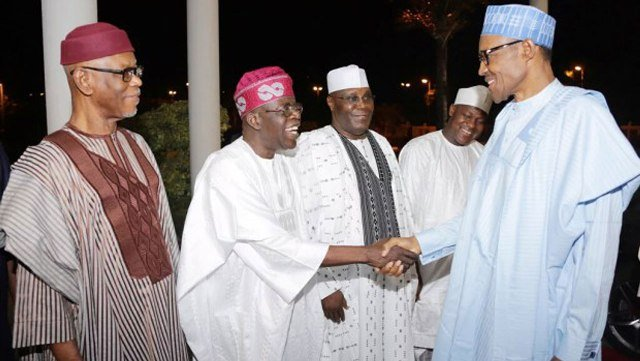 Oyegun, Tinubu, Atiku and Buhari