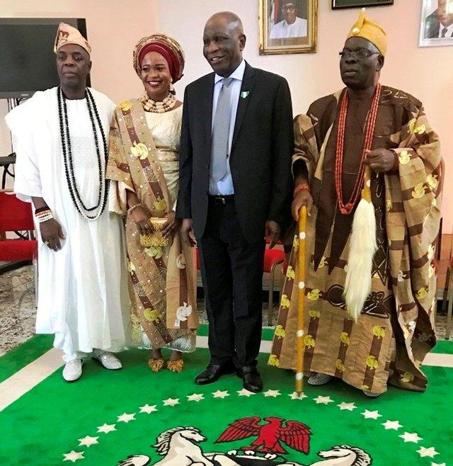 Oba Ogunlaja visits Nigeria High Commission London