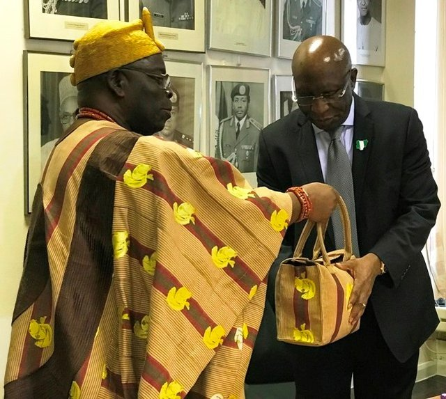 Oba Ogunlaja visits Nigeria High Commission London