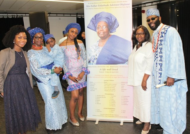 Dr Michaela Cameron, Ejiro Olujinmi, Feyitola Fadina, Mummy Mrs Angela Cameron and Lekan Olujinmi b.jpg