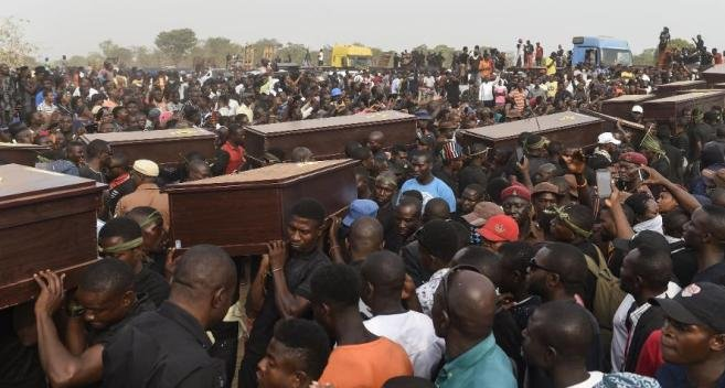 Mass burial for victims reportedly killed by Fulani Herdsmen