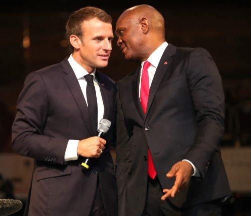 President Macron and Tony Elumelu