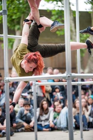 Inspiring female dancers from Motionhouse will deliver a captivating performance inside a giant moving cage