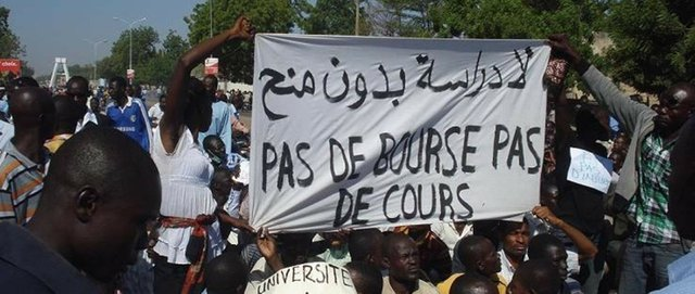 Anti-austerity protesters in Chad