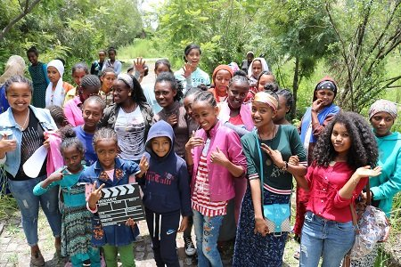 Zuriel Oduwole teaches basic filmmaking in Ethiopia
