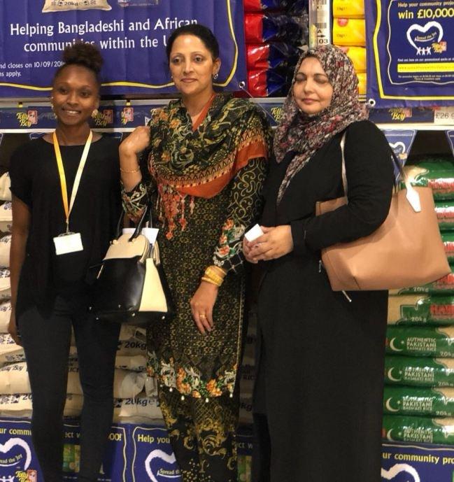 Representatives of Afruca and Fatima Women's Association