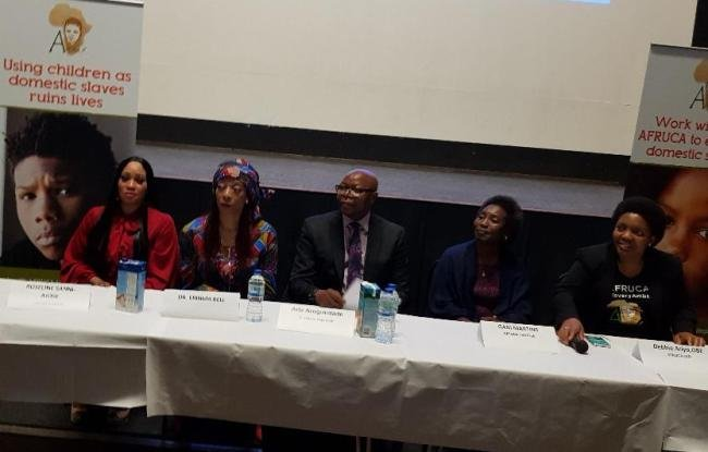 The Panelists discussing Modern Slavery