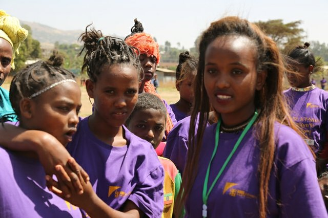 Nineteen-year-old Miheret Tadesse chairs the Uncut Girls' Forum in her school.