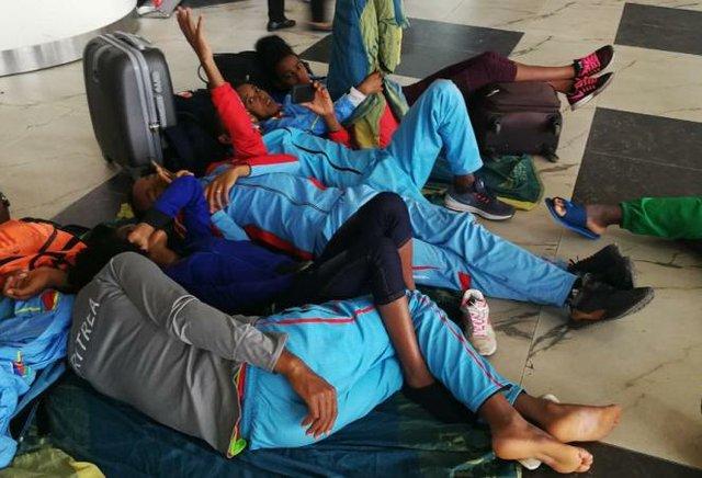 Athletes stranded at the Murtala Muhammed Lagos airport