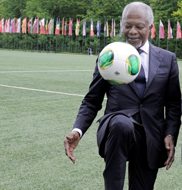 Kofi Annan at the Home of FIFA