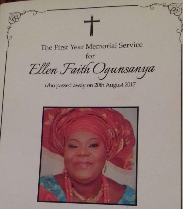Ellen Ogunsanya memorial