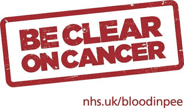Be Clear on Cancer BCOC blood in pee logo