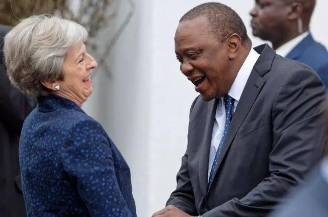 UK's Prime Minister - Theresa May and Kenya's President Uhuru Kenyatta