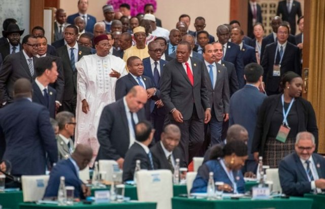 African presidents at China-Africa summit 2018