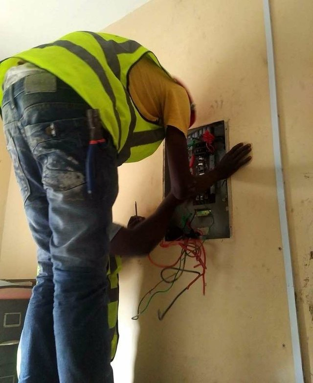 An Electrical and Solar Installation and Maintenance Trainee
