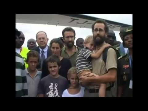 Freed French family arrive Yaounde