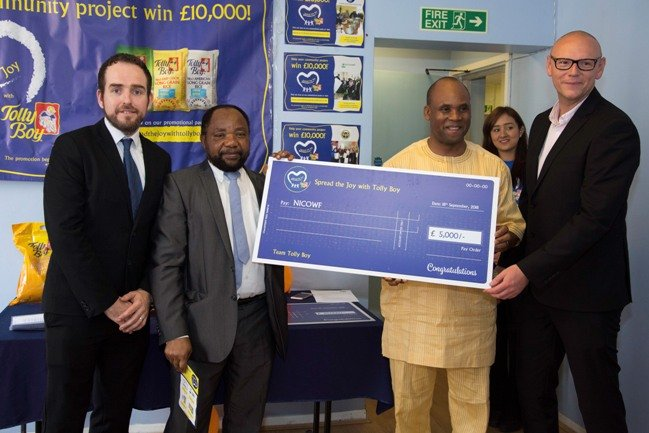 Nigerian Community in Waltham Forest, first runner-up receiving a prize of £5,000