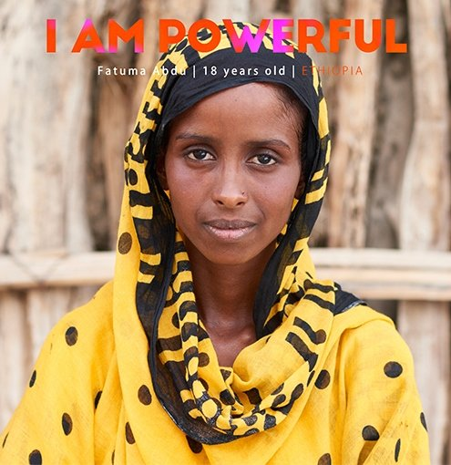 "In Ethiopia, Fatuma Abdu participates in a UNFPA-supported adolescent girls' group that discusses the subject. ""I teach my family and other community member the cause and effects of FGM."""