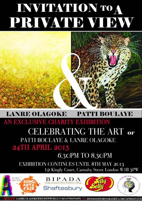 Celebrating the Art of Patti Boulaye and Lanre Olagoke