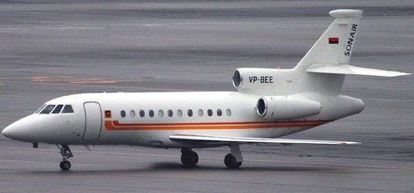 An executive jet for Manuel Vicente's wine