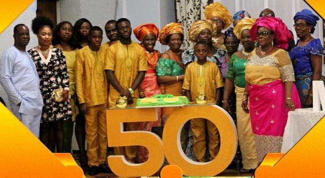 Mr & Mrs Olubanjo and children and her Mum - Ms L.E. Mene and extended family members b.JPG