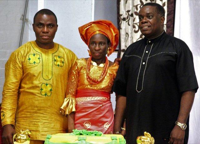 Mr Femi Okutubo poses with Mr & Mrs Olubanjo b.jpg