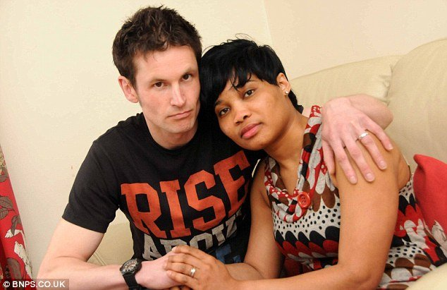 Asylum seeker May Brown (right) is fighting for her life in hospital after an overdose days before she was due to be sent back to Nigeria.jpg