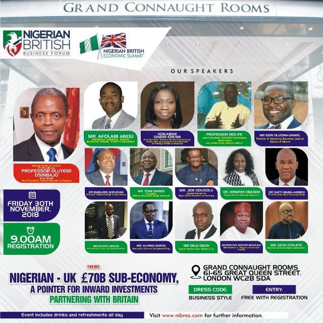 Nigerian British Economic Summit 2018