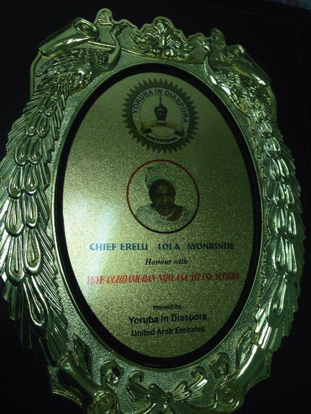 Erelu Lola Ayonrinde bags award