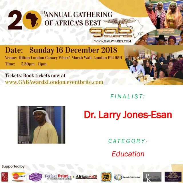 Dr. Larry Jones-Esan