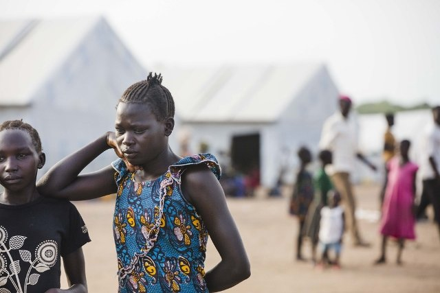 Refugees in Uganda's Imvepi Camp.