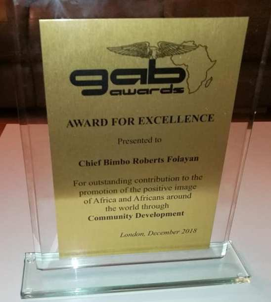 Chief Bimbo Folayan wins his second GAB Award