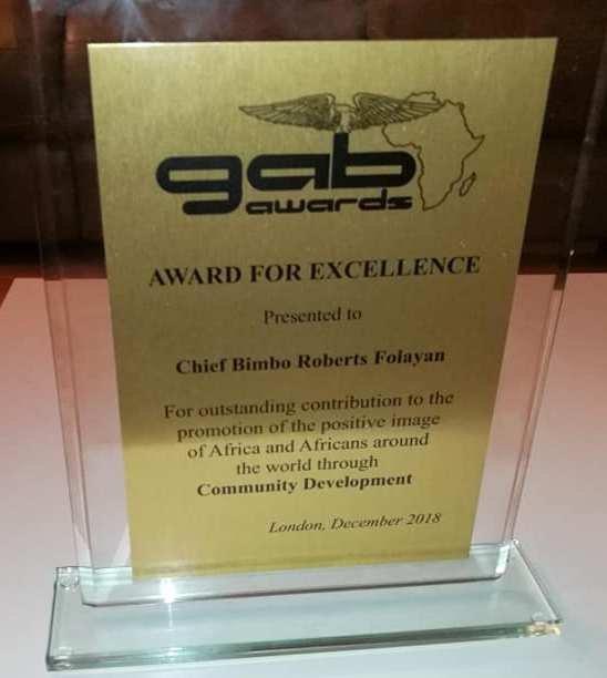 Chief Bimbo Folayan wins his second GAB Award