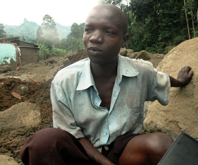 Simon Mashipwe who lost a shop and rentals seated in the boulders that destroyed several trading centres in Bududa