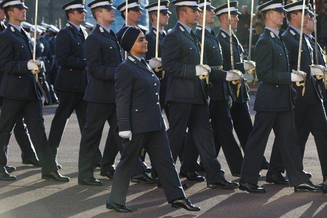Mandeep Kaur at a parade