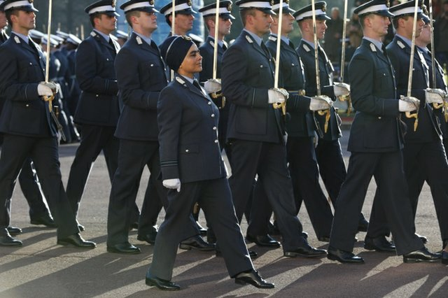 Mandeep Kaur at a parade