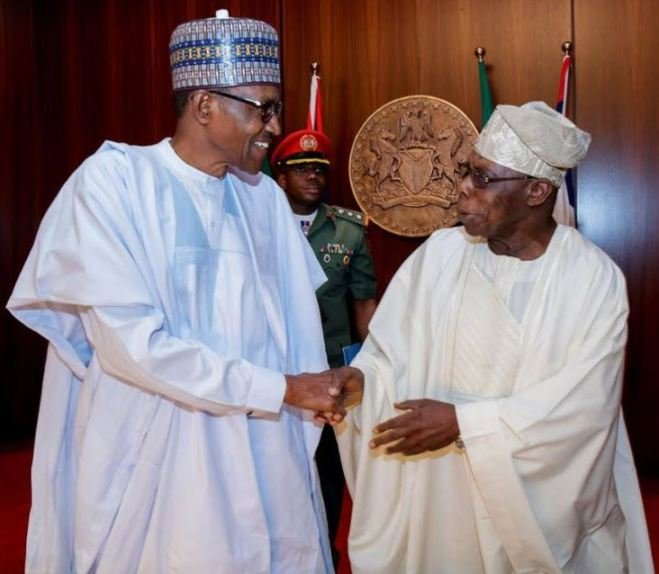 Muhammadu Buhari and Olusegun Obasanjo