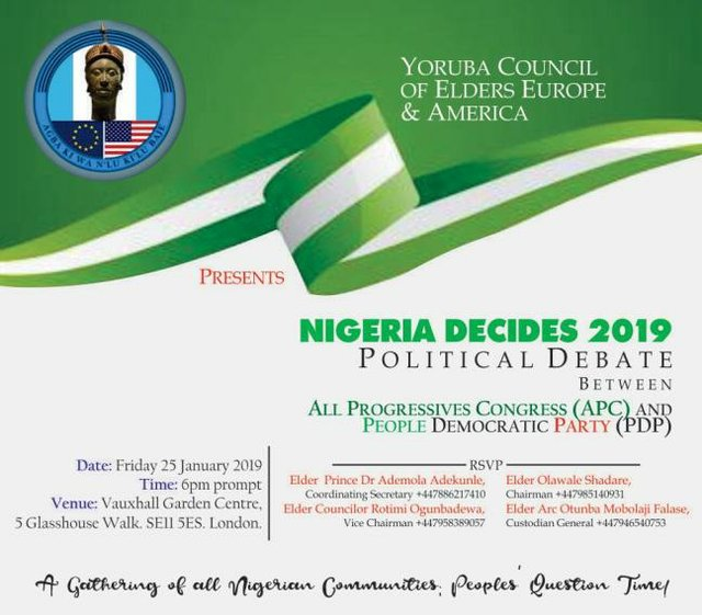 Yoruba Council of Elders YCE Nigeria Decides