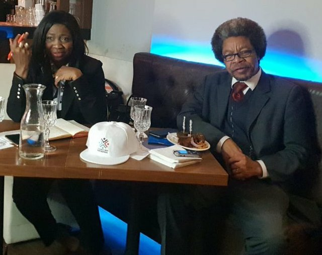 Mrs Abike Dabiri-Erewa and APC UK Chair - Dr Philip Idaewor